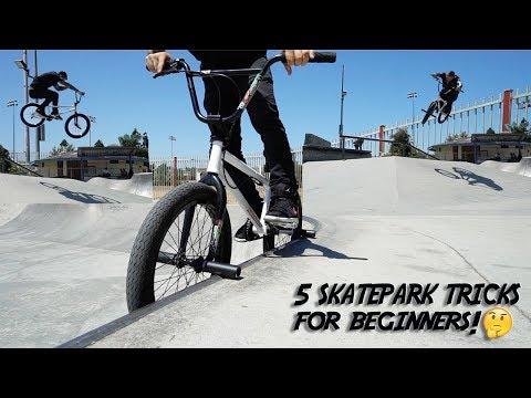 THE 5 BEST BEGINNER BMX TRICKS FOR THE SKATEPARK!