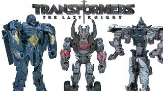 TRANSFORMERS THE LAST KNIGHT ONE STEP TURBO CHANGERS WAVE 2 MEGATRON BESERKER GRIMLOCK 1 STEP TOY