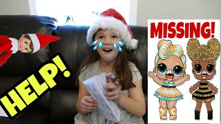 SOMEONE TOOK MY RARE LOL DOLLS! ULTRA RARE LUXE AND QUEEN BEE MISSING! ELF ON THE SHELF SKIT