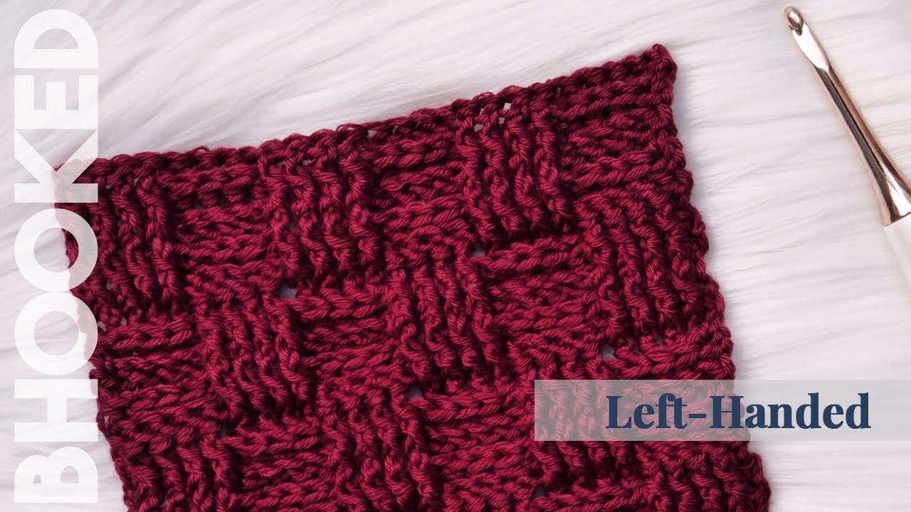 Crochet Basketweave Stitch Left Handed Youtube