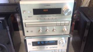 YAMAHA CRX-E150 CRX-E300 (обзор на CD AUX и звук)