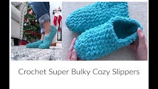How to Crochet Easy Super Bulky Slipper