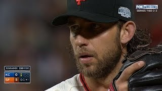 WS2014 Gm5: Bumgarner fans eight in four-hit shutout