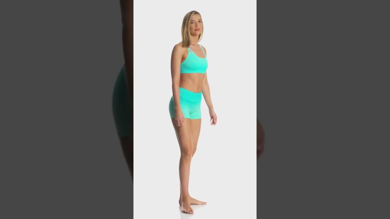 a54fe6d08e0e3 NUX Ombre Strappy Seamless Yoga Sports Bra