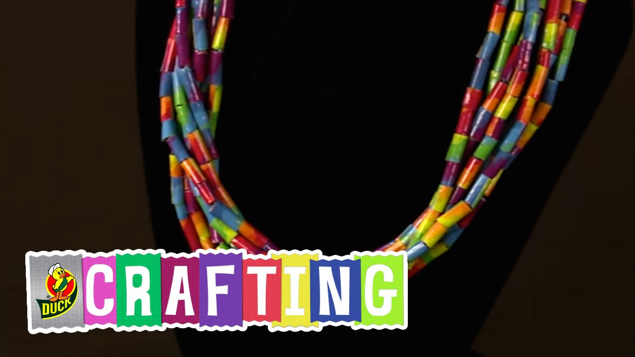 tape duck crafts and necklace for duct tutorials craft kids ideas