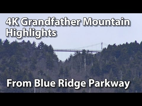 4K Grandfather Mountain Highlights From Blue Ridge Parkway