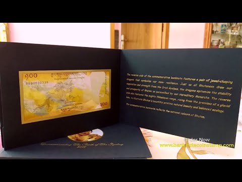 Bhutan Commemorative Banknote Unboxing
