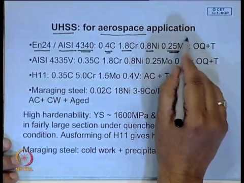 Mod-01 Lec-40 Ultra High Strength Steel