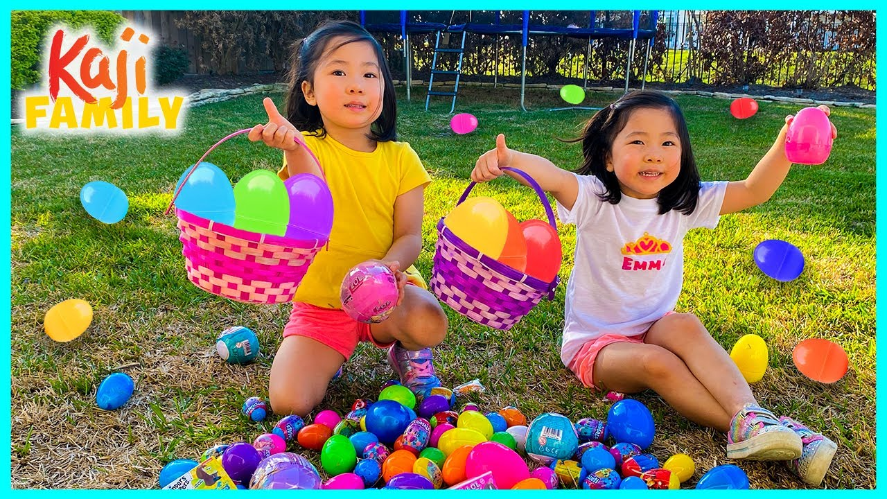 Emma vs Kate Easter eggs Hunt Challenge Outdoor 2021!!!