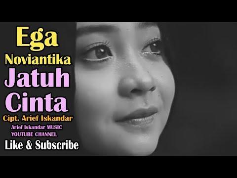 Ega Noviantika - Jatuh Cinta cipt. Arief Iskandar (Official Video Lyric)