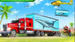 Laut simulator mengemudi truk pengangkut hewan! Game Balita screenshot 3