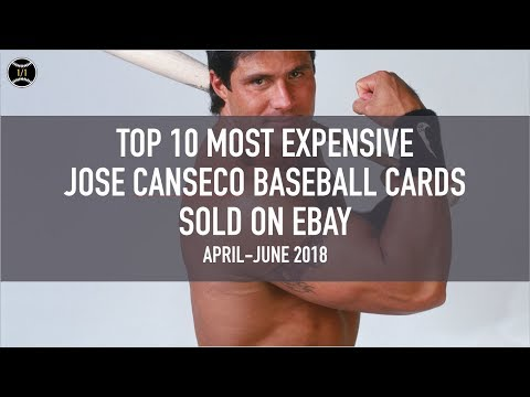 Top 10 Most Expensive Jose Canseco Baseball Cards Sold On Ebay
