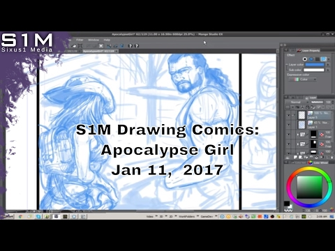 Sixus1 Drawing Comics: Apocalypse Girl panel for 100 Days of Comics Challenge