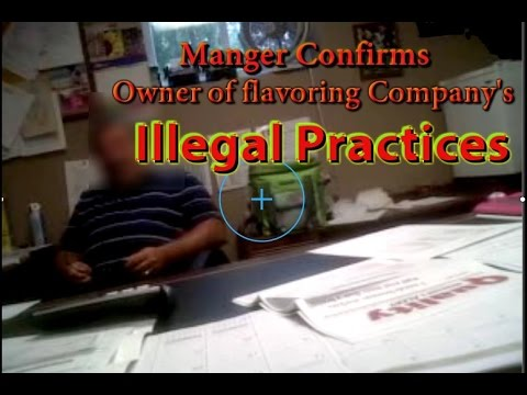Manager Confirms Flavoring Company Owner's Illegal Practices