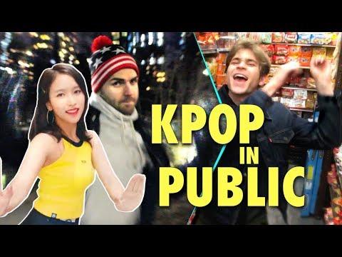 DANCING TO K-POP IN PUBLIC