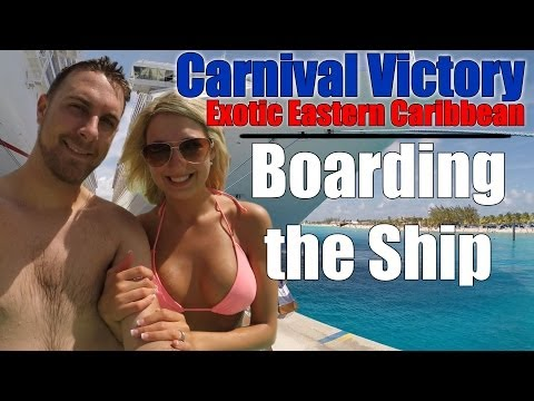 Carnival Victory 2014 - 5 Day Exotic Eastern Caribbean (Part 1 of 4) Boarding