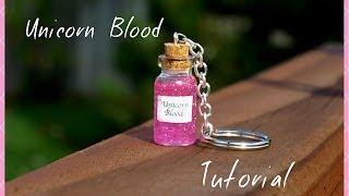 Easy Unicorn Blood Keychain Tutorial Mini Glass Bottle Vial Charm Beginner