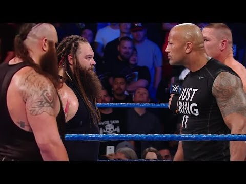Braun Strowman & Bray Wyatt Vs The Rock & John Cena WWE Wrestlemania Full Segment