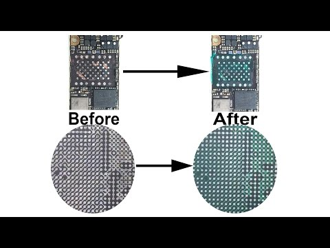 Fix Damaged Insulation Layer for iPhone iPad NAND Flash Chip IC Board