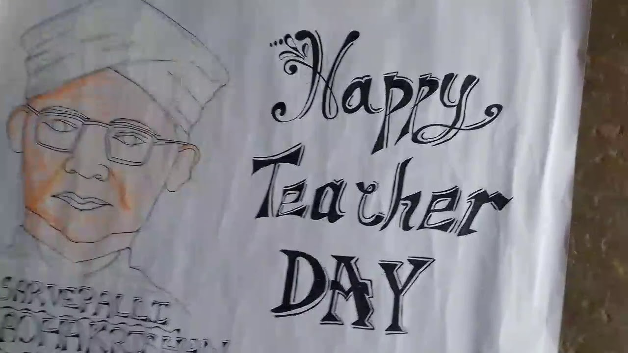 How to make teachers day chart also youtube rh