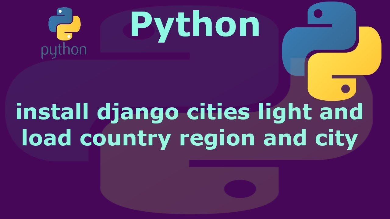 fosshelp: How to install django-cities and populate country