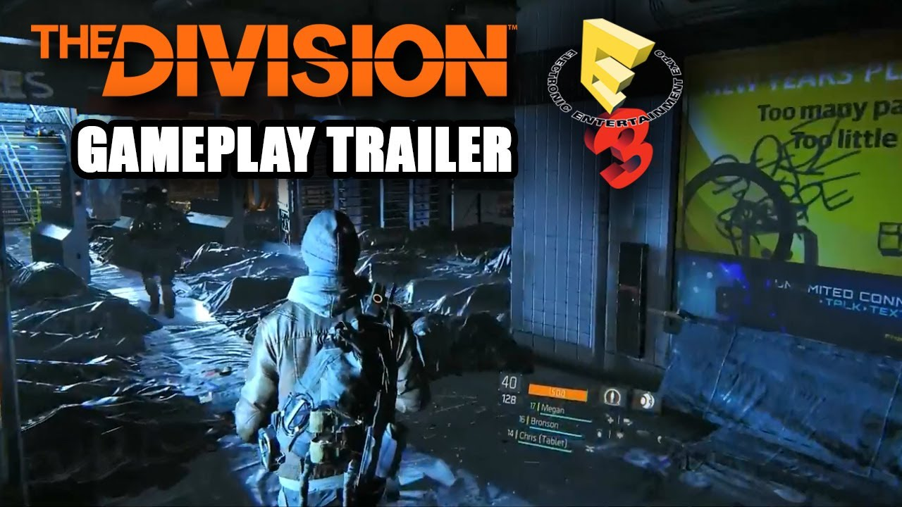 tom clancy 39 s the division gameplay walkthrough trailer e3 2014 new coop xbox one ps4 youtube. Black Bedroom Furniture Sets. Home Design Ideas