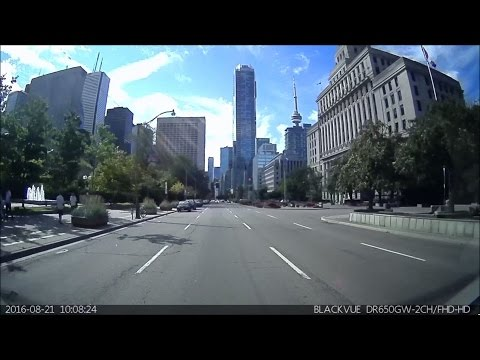 Driving in Toronto - West End to East End driving tour (REAR DASH CAM ONLY)