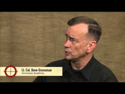 Lt. Col. Dave Grossman on the course,