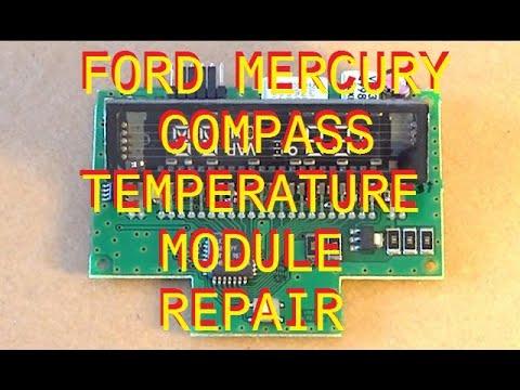 Ford Mercury Compass Temperature Repair 95 96 97 98 99 00 01 02 03 04 05  YouTube