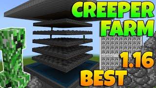 BEST 1.16* New Minecraft Bedrock Creeper Farm 1.16! Minecraft Creeper Farm Bedrock 1.16! MCPE/XBOX