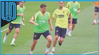 """El jugador del Barcelona Sergio Busquets dijo este viernes que la continuidad de Quique Setién será """"una buena señal para todos"""" porque significará que el equipo ha hecho """"un gran papel"""" en este final de temporada, aunque añadió que los jugadores """"deben quedar al margen"""" de esta decisión """"de club"""""""
