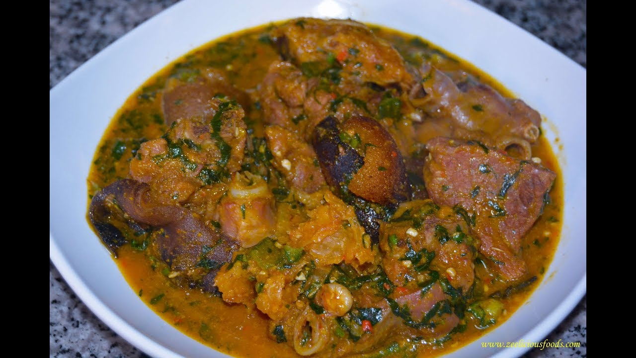 HOW TO MAKE OGBONO SOUP - NIGERIAN STYLE OGBONO SOUP ...