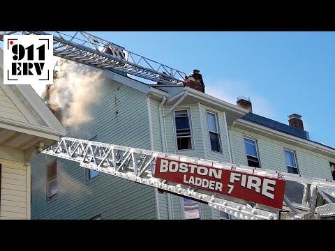 On Scene | Boston, MA Five Alarm Fire in Dorchester Snarls Traffic