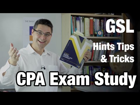 CPA exam study hints for GSL  - Video #1