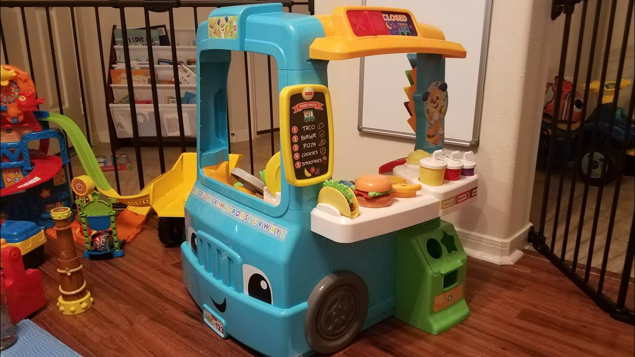 Fisher-Price Laugh & Learn Servin' Up Fun Food Truck Overview and Review! - YouTube