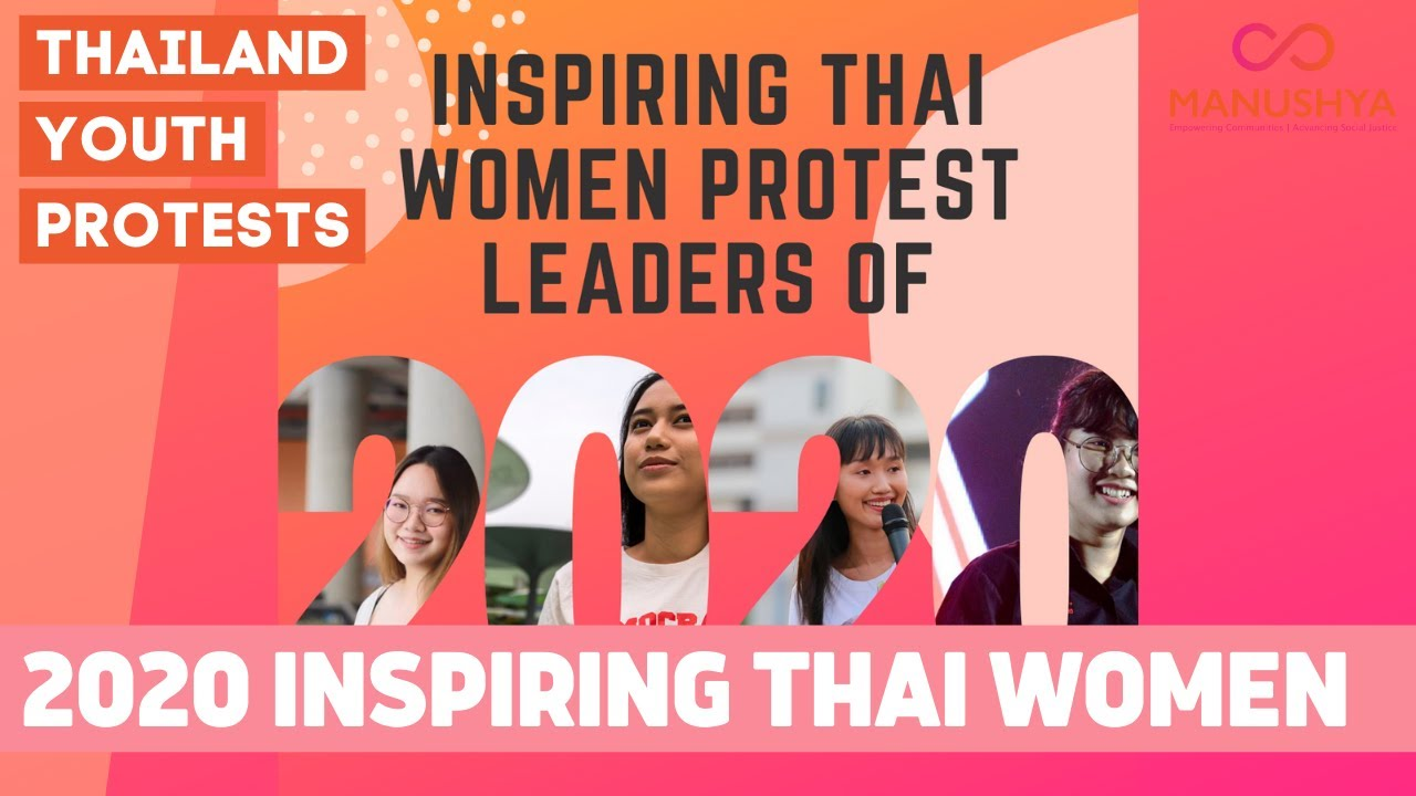 2020 Inspiring Thai Women Protest Leaders