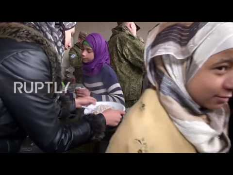 Syria: Eastern Aleppo residents receive 35 tonnes of Russian aid