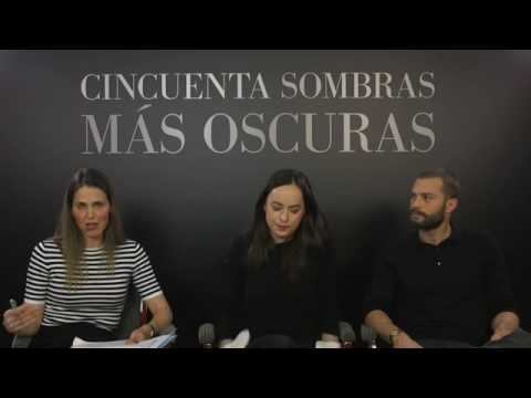 Fifty Shades Darker Madrid Facebook Q&A Jamie Dornan Dakota Johnson