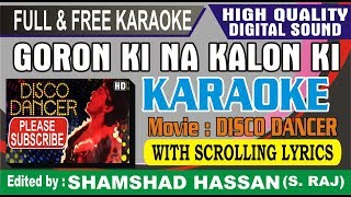 Goron Ki Na Kalon Ki Dunya Hai Dilwalon Ki Karaoke With Female Voice Free Disco Dancer Full Karaoke