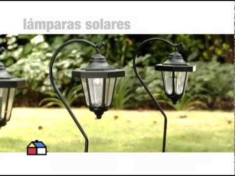 Qu son las lamparas solares youtube for Lamparas de exterior para terrazas
