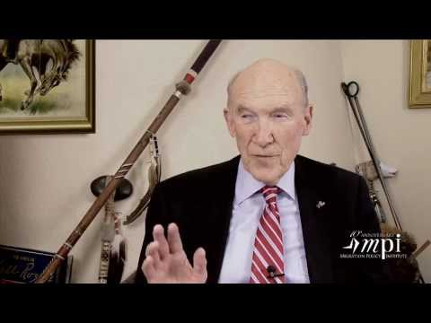Sen. Alan Simpson Video Accepting Migration Policy Institute 10th Anniversary Award
