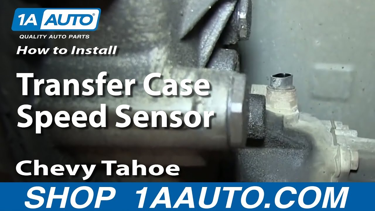 How To Replace Transfer Case Speed Sensor 9599 Chevy Tahoe  YouTube
