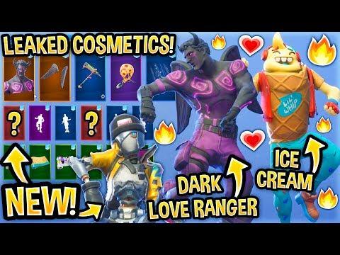 *NEW* All Leaked Fortnite Skins & Emotes..! *VALENTINE* (Dark Love Ranger, Daydream, Lil Whip...) thumbnail