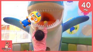 뽀로로 키즈카페 테마파크 자동차 기차 어린이 놀이 모음 ♡ 놀이동산 어린이 장난감 놀이 동탄점 Indoor Playground Fun | 말이야와아이들 MariAndKids