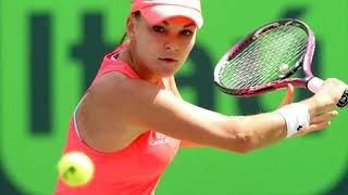 Agnieszka Radwanska, beautiful Polish tennis player at Miami Open