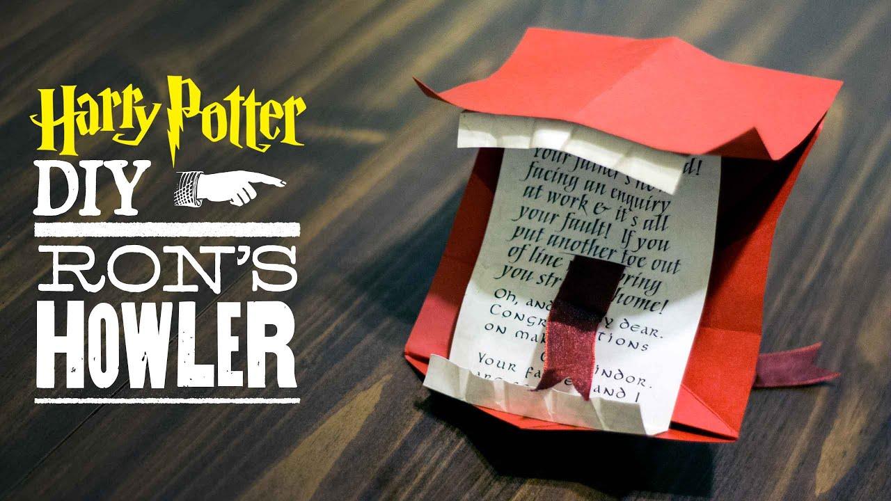 Diy Howler Letter From Harry Potter Youtube