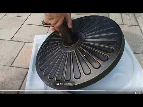 sunnyglade-outdoor-living-heavy-duty-round-antiqued-patio-umbrella-base-(bronze)-review