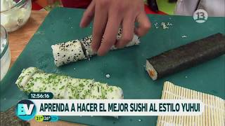 Yuhui nos preparó un exquisito sushi   Bienvenidos