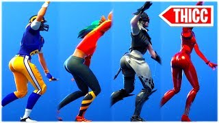 "*NEW* THICC ""LAVISH"" DANCE EMOTE performed with HOT FEMALE SKINS 😍❤️ fortnite shop"