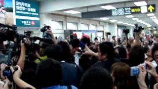 20110502 玉木宏來台宣傳演唱會松山機場接機.